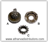 KICK RATCHET SET OF TWO  HONDA ACTIVA, CRANK SPROCKET  KB 4   STROKE